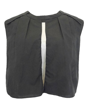 Dee Dee Black Linen Top