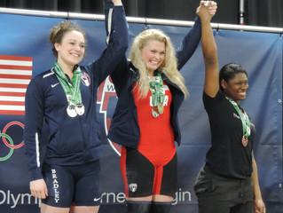 Bradley on medal podium at Junior Nationals