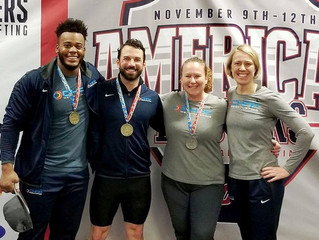 CHFP Masters collect medals at American Masters