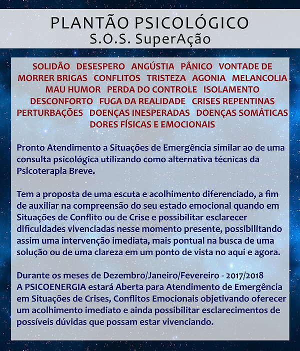 Plantão Psicológico - Vila Mariana / Saúde / Ipiranga