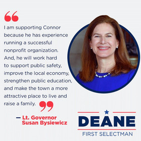 Bysiewicz Endorses Connor Deane