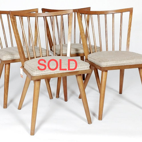 Four Leslie Diamond Side chairs - Birch Maple