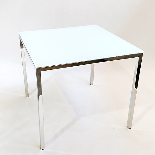 White Glass Jelly Table/ Sq.
