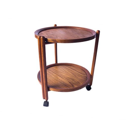 Olle Møller attributed rolling side table
