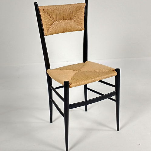 Gio Ponti-Rushed Ladder back Chair