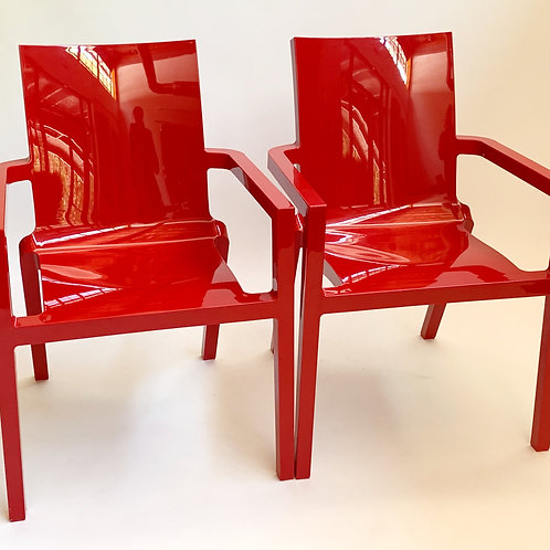 Deauville Red Armchairs by Christopher Pillet