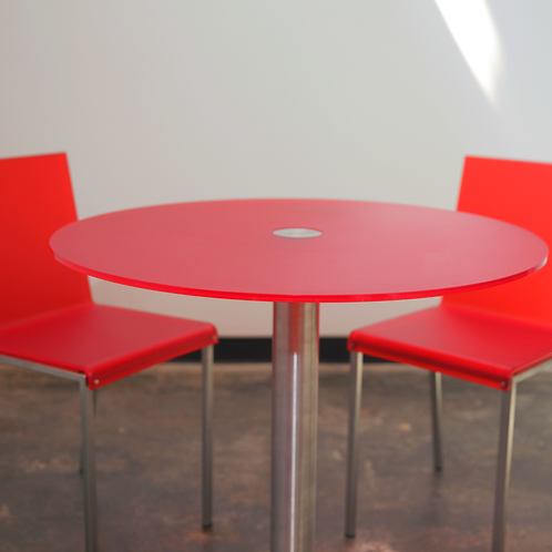 GoGo Table & Bianca Chairs. Red