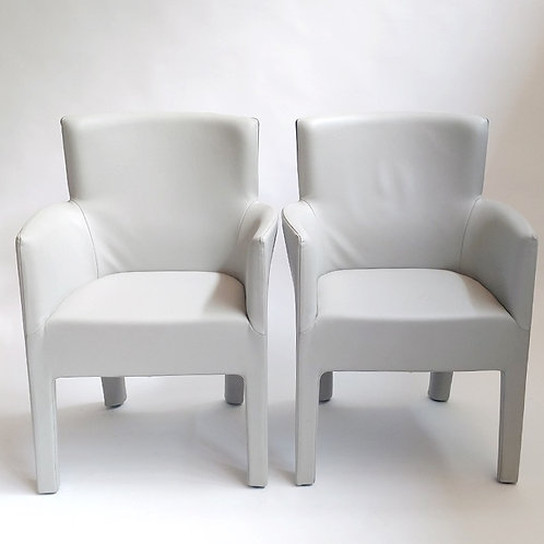 King Chairs. Gray-Charcoal leather