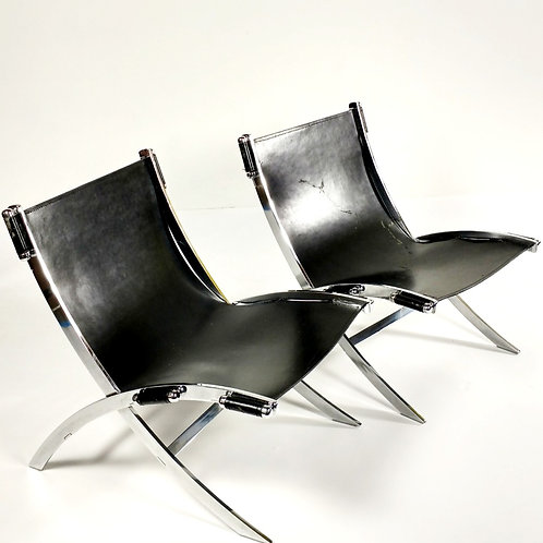 Vintage degraded Flexform Chairs set 2