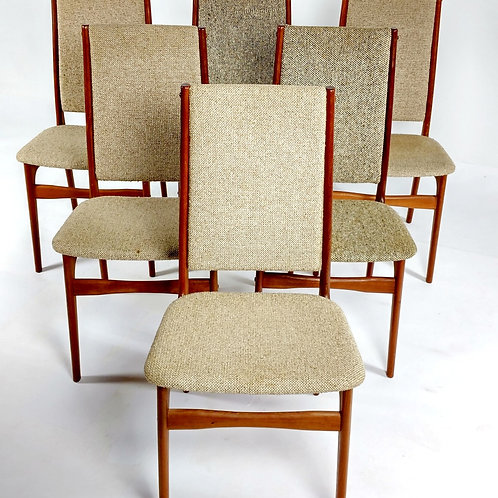 Schionning & Elgaard Dining Chairs- Set 6