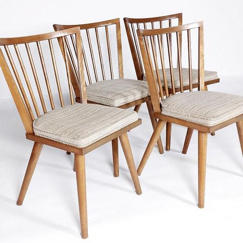 Four Leslie Diamond Side chairs - Birch Maple