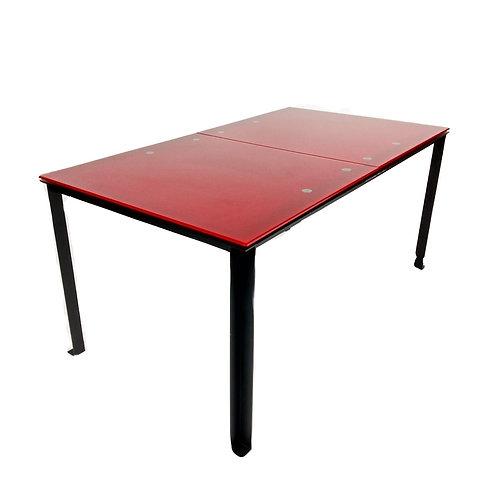 SOLD-Red Glass Work/Dining Table