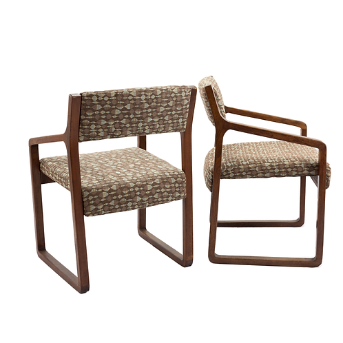 Office Chairs 1960-70s, Pair
