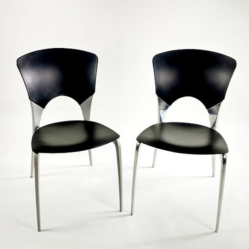 Silla Black Modern Chairs. Each