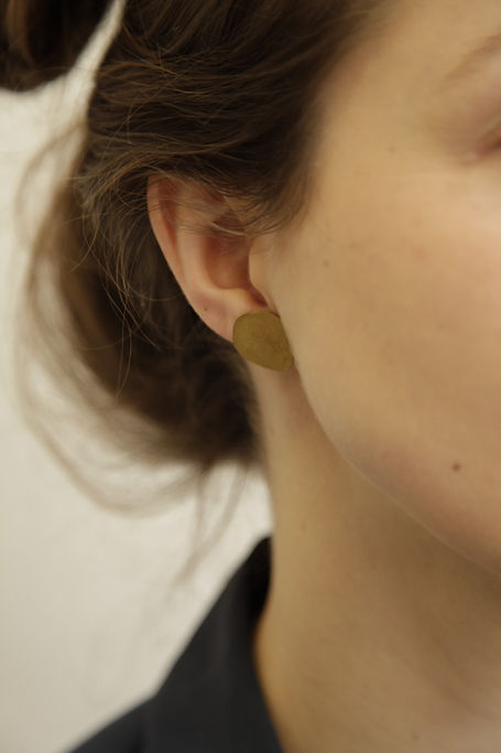 earring 3 woche brass