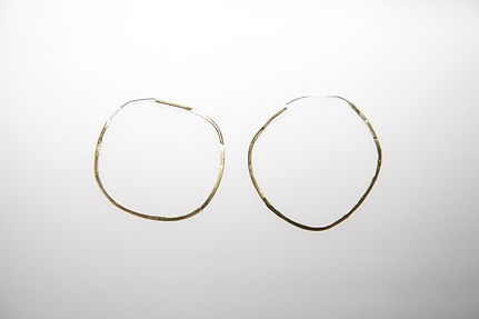 imperfect hammered earrings large