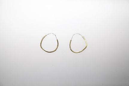 imperfect hammered earrings medium