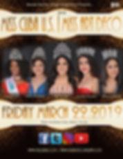 Miss Cuba US 2019 Cover Pageant Program
