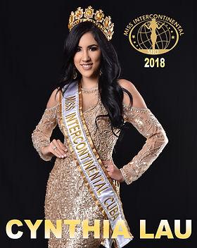 Miss Intercontinental Cuba 2018, Cynthia Linnet Lau