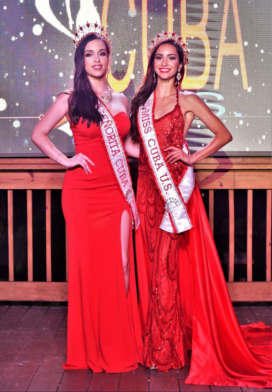 Dos reinas Cubanas coronadas Señorita Cuba 2020, Marla Ramos y Miss Cuba US 2020, Genesis Leiva organizada por BNC Belleza Nacional Cuba