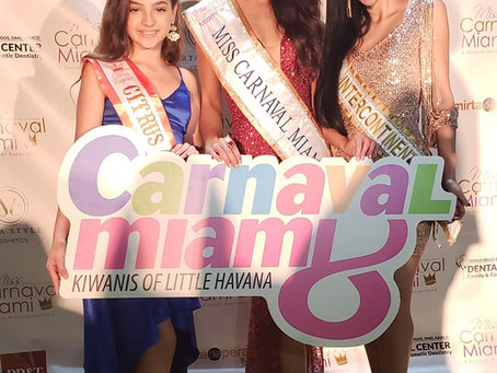 Miss Intercontinental Cuba 2018 on Pageantry Now Media Interviewing at Miss Carnaval Miami Pageant