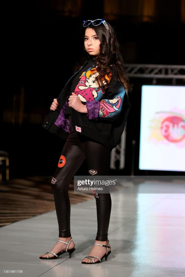 Miss Jr. Cuba U.S. 2020, Brielle Trujillo modeling EyeCandy Couture at NYFW