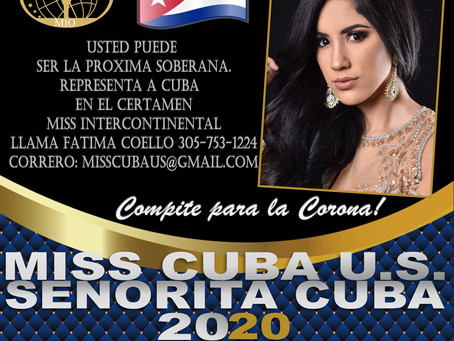 Be representative for Cuba at Miss Intercontinental 2020