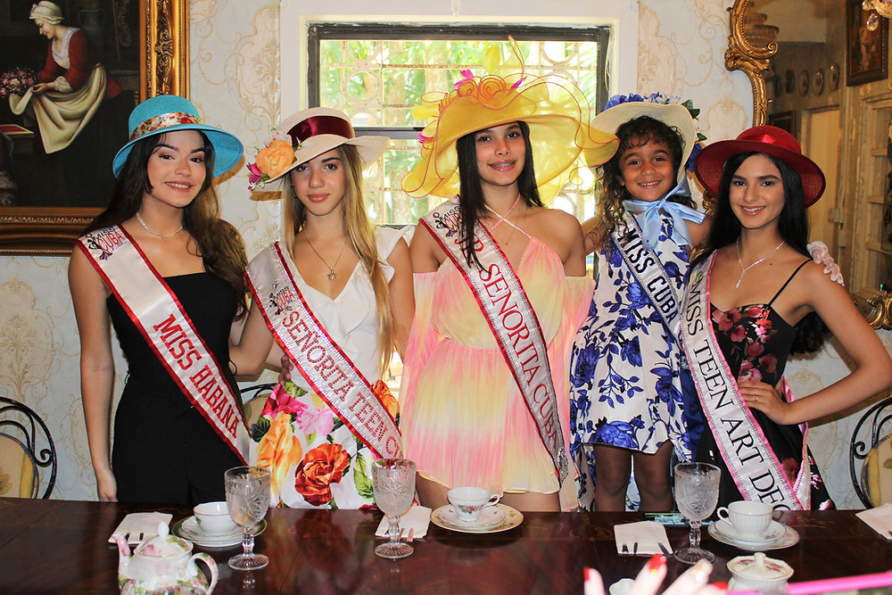 Miss Cuba U.S. first annual Tea Party held at The Tea Room of Cauley Square