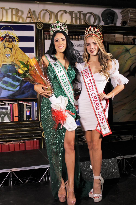 Miss Earth Cuba 2021, Cynthia Linnet Lau (left) and Miss Teen Charm Cuba 2021, Angelina Asbert (right)