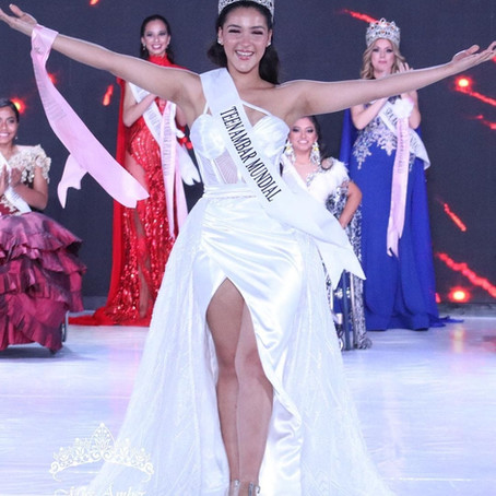 Elisa Gregorio wins the crown of Miss Ambar Mundial 2020/21