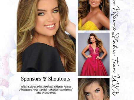Veronica Delgado compite en Miss Florida Teen USA Pageant 2020