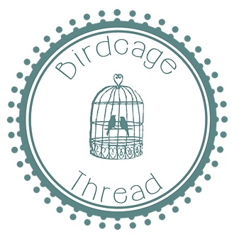 Birdcage and Thread Logo PNG Dark Green.