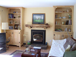 Fireplace Mantel and Book Shelves