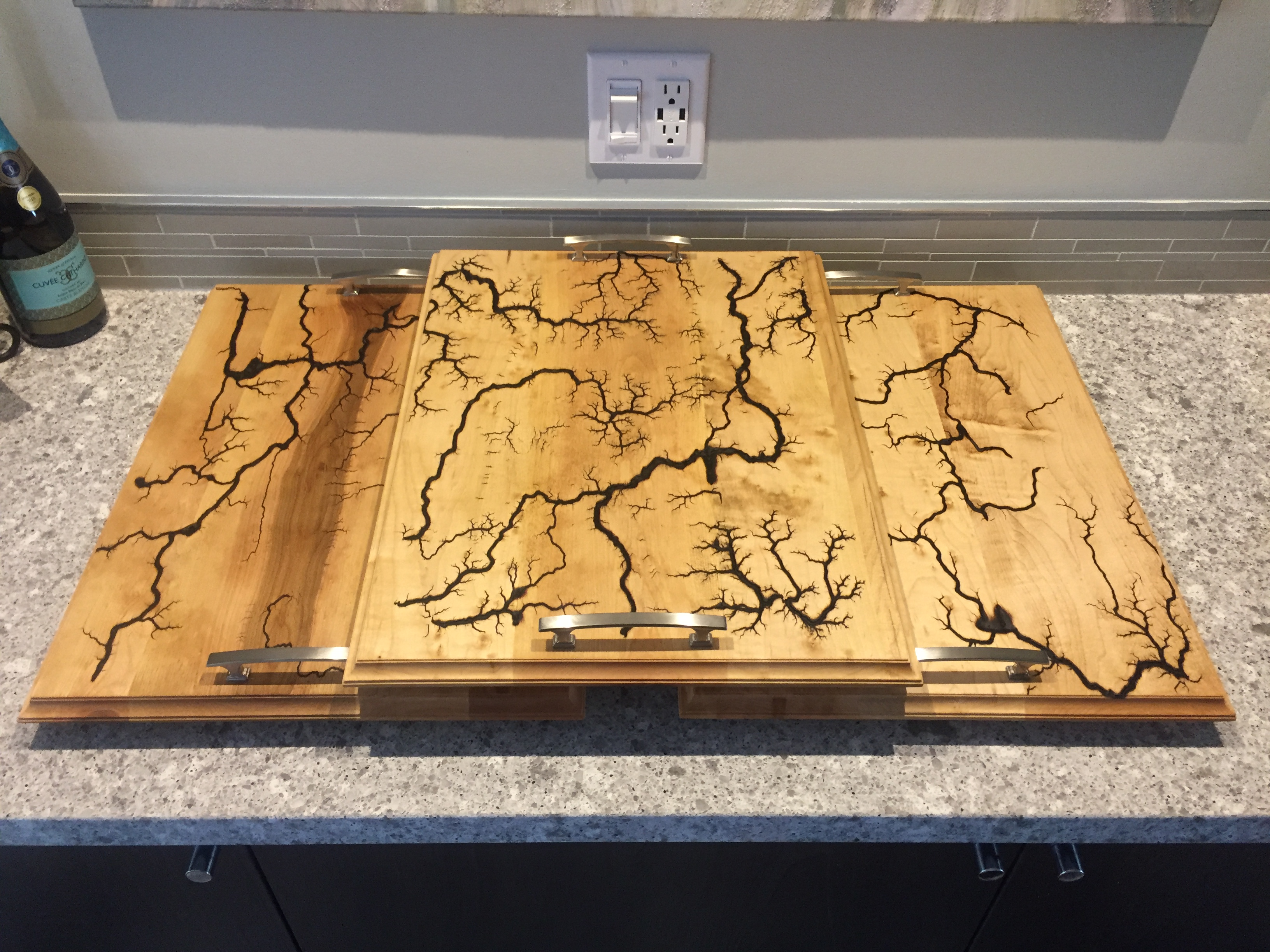 Maple Wood Tray Sets