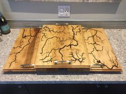 Maple Wood Tray Sets