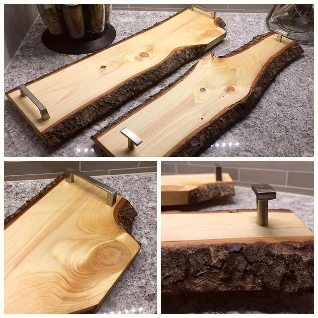 Knotty Pine Serving Trays