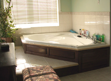 Walnut Bathtub