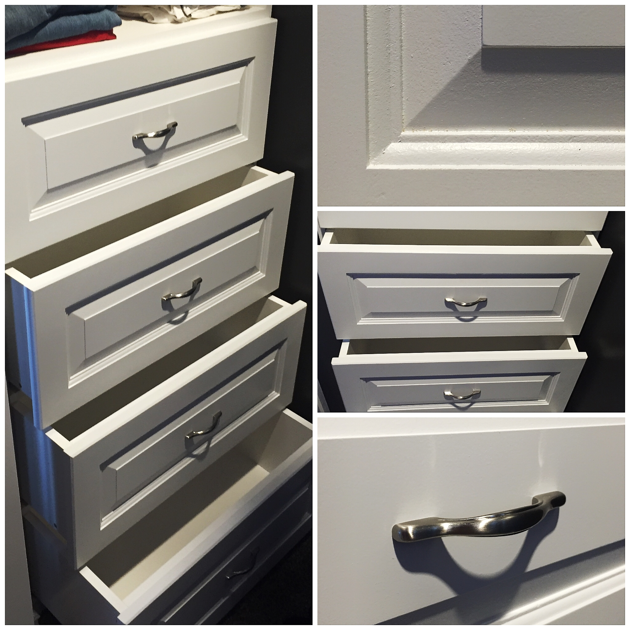 Walk-in Closet Shelf with Drawers