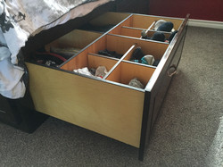 Wenge Bed Frame with Storage