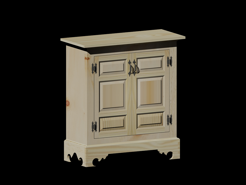 Pine Display Cabinet - Design