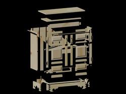 Pine Display Cabinet - Parts