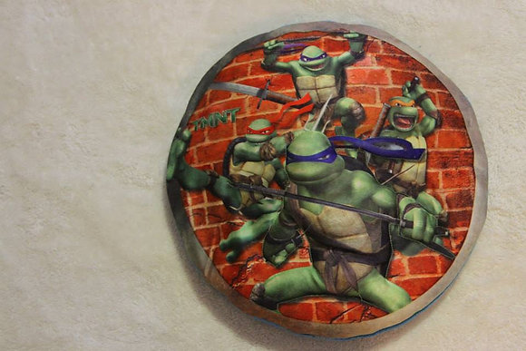 Ninja Turtle Round Pillow