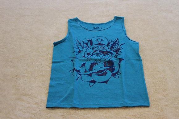 Blue Ooey Cucuy Sleevless Shirt