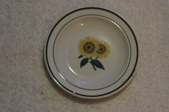 Sunflower designed plate