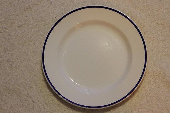 Blue Stripe Bordered Plate