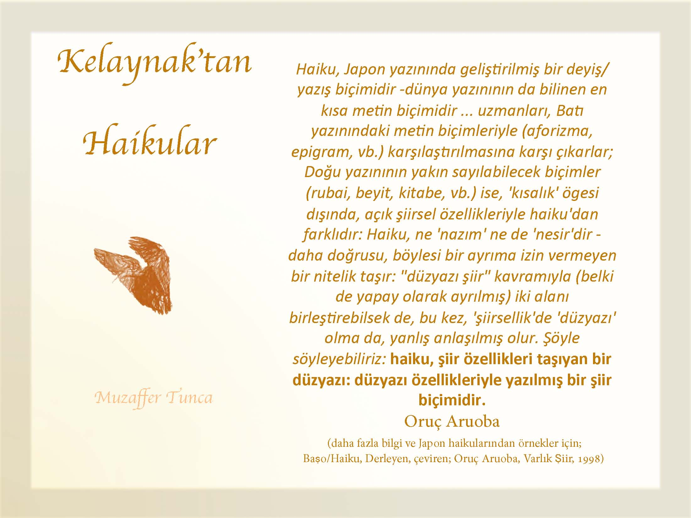 "HAIKUS BY ""KELAYNAK"" TAN HAIKULAR"