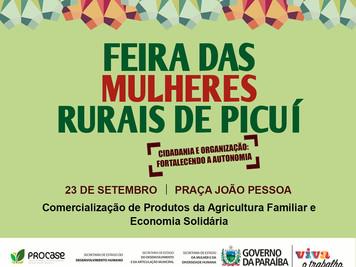 Com participação do Procase, Feira das Mulheres Rurais acontece neste sábado (23) em Picuí