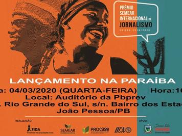 Prêmio de SEMEAR Internacional de Jornalismo será Lançado na Paraíba