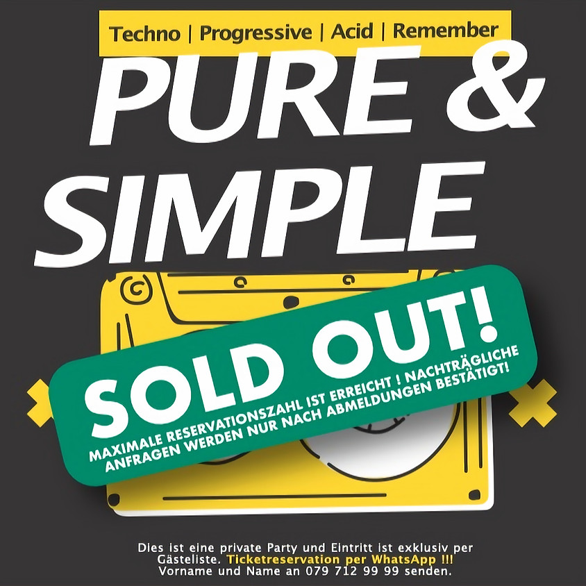 Pure & Simple Night (SOLD OUT!)