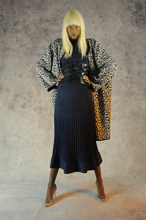 Argento Chenille Leopard Coat